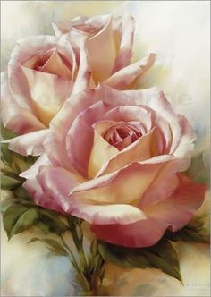 Pink Roses By Igor Levashov Beautiful Roses, Beautiful Flowers, Pretty Roses, Rose Art, Love Rose, China Painting, Arte Floral, Botanical Art, Beautiful Paintings