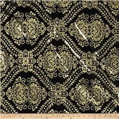 Starlight Sequined Mesh Damask Gold/Black