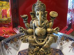 Lord Ganesha statue Ganesh statue by TriquetraBoutique on Etsy