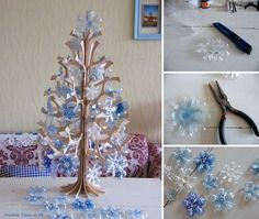Snow flakes From Plastic Bottles