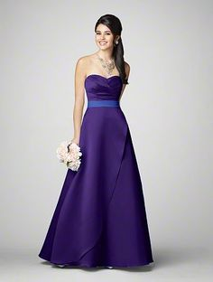 Alfred Angelo #7205 with cobalt trim (Yay for wedding colors!)