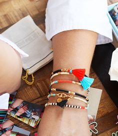 colorful beaded fun friendship bracelets