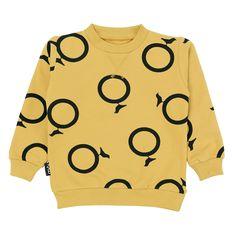 Φούτερ από οργανικό βαμβάκι σε μουσταρδί χρώμα.  Κατασκευή: Ισλανδία Kid Styles, Overalls, Kids Fashion, Stylish, Sweatshirts, Sweaters, Design, Products, Sweater