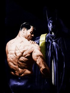 Batman by Alex Ross ~ Didn't know whether to pin this in Artistry or Batfam but its gorgeous!!!