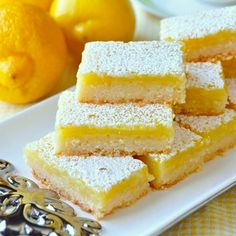 Super Easy Lemon Bars - made with only 5 simple ingredients! - Rock Recipes