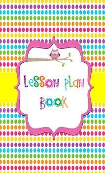 1000+ images about Lesson Plan Books on Pinterest   Lesson ...