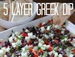 The Lovely Cupboard: 5 Layer Greek Dip
