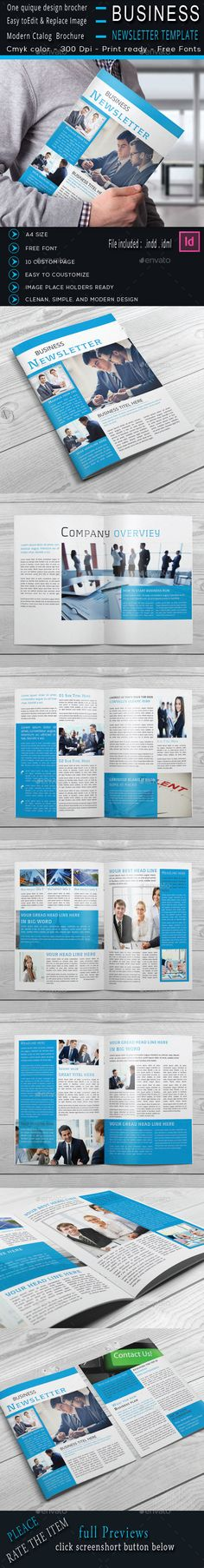Newsletter Indesign Template Newsletters Print Templates Design