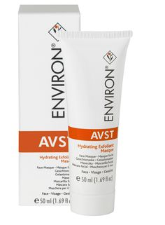 Environ®'s AVST Hydrating Exfoliant Masque is a mask specifically designed to help improve the appearance of hydrated skin and remove excess oil from the skin's surface. This product contains kaolin, mineral oil and vitamin E.