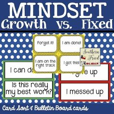 Mindset ~ Growth vs. Fixed ~  ($)
