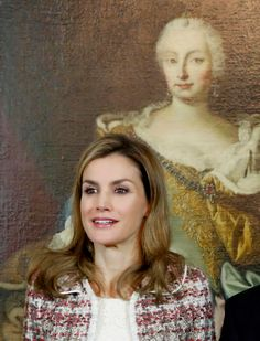 Queen Letizia on her first solo official visit abroad to Vienna, Austria, to inaugurate an exhibition on Velasquez. Letizia wore a Felipe Varela suit, new Magrit shoes and carried an Adolfo Dominguez bag. She lunched with the President and his wife at the presidential palace.