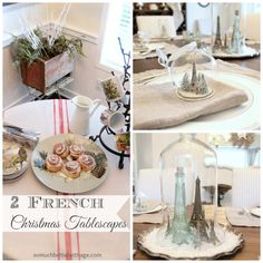 Do you need some table setting inspiration this Holiday season? Look no further because I have put together two French tablescapes that are sure to impress! French Christmas Decor, Cottage Christmas, Rustic Christmas, Christmas And New Year, All Things Christmas, Christmas Holidays, Christmas Houses, Christmas Morning, Christmas Goodies
