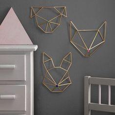 Himmeli DIY wall ornament in golden brass straw rabbit form Modern Wall Decor, Diy Wall Decor, Bedroom Decor, Funky Decor, Decor Room, Himmeli Diy, Corner Deco, Diy Wanddekorationen, Mur Diy