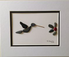 Hummingbird Pebble Art