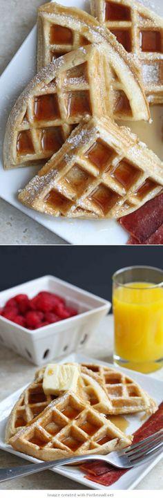 Homemade #Buttermilk #Waffles #breakfast #brunch Or serve for dessert