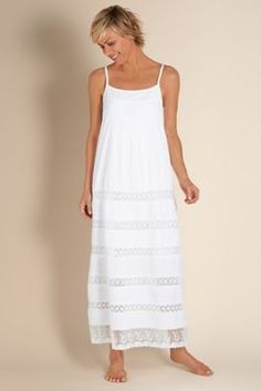 a526931dc9 Lots Of Lace Gown - Lace White Cotton Night Gown