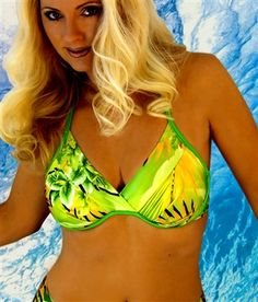 Get more coverage where you need it with our support halter swimsuit bra top: by www.BlondiBeachwear.com