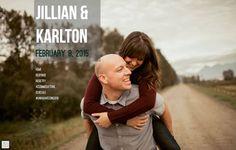 Jillian & Karlton go for a piggyback ride as shared on their charming wedding website built on @weddingwoo