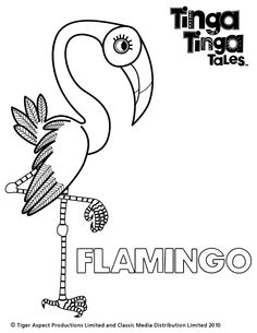 Black and white picture of Flamingo