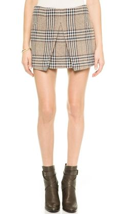 Rachel Zoe Augusta Pleated Miniskirt with Pockets
