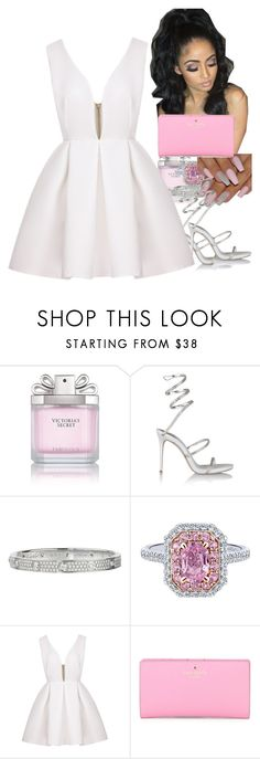 """Untitled #37"" by thaofficialtrillqueen ❤ liked on Polyvore featuring Victoria's Secret, René Caovilla, Cartier and Kate Spade"