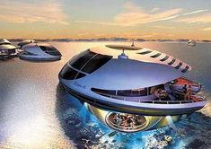 If you were to thinking to move out and live in another place, I think this is the perfect solution. This futuristic yacht concept called Tribolis will be perfect for you and your family. The UFO-like yacht can provide a very comfortable shelter for six people.