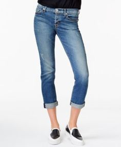 Hudson Jeans Riley Straight-Leg Cropped Jeans - Blue 30