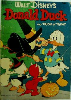 "Vintage Disney Comic - Donald Duck in ""Trick or Treat""."