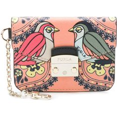 Furla bird print coin purse (575 HRK) ❤ liked on Polyvore featuring bags, wallets, coin pouch, coin purse wallets, leather coin purse, clasp coin purse and change purse wallet