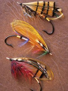 Flyfishing: Full Dressed Atlantic Salmon Flies, Canada.