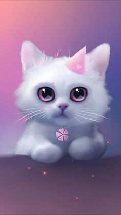 Funny wallpaper iphone chat kawaii, cat wallpaper, wallpaper backgrounds, cute wallpaper for phone Cute Cat Wallpaper, Animal Wallpaper, Drawing Wallpaper, Trendy Wallpaper, Colorful Wallpaper, Anime Animals, Funny Animals, Cute Animal Drawings, Cute Little Animals