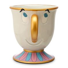 [Chip and sip]Despite his imperfections, Chip is perfectly cute as shown in this mug featuring the <i>Beauty and the Beast</i> character. Detailed with raised features, the…