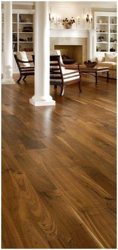 Walnut flooring Walnut wide plank wood floors Casey says hard wood through out. your the man who am I to argue with that. horrible idea The post Walnut flooring appeared first on Wood Diy. Walnut Hardwood Flooring, Hardwood Floor Colors, Dark Wood Floors, Wide Plank Flooring, Wooden Flooring, Flooring Ideas, Oak Flooring, Dark Hardwood, Carpet Flooring