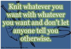 Knitting Confessions: Photo