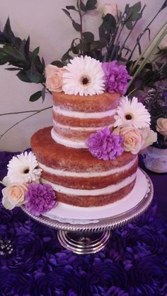 This Naked Wedding Cake was carrot cake with cream cheese frosting.