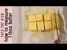 Do you ever wonder how to measure a tablespoon of butter when a recipe calls for 1 or 2 tbsps only? So here is a baking tip of how to measure out. Baking Supply Store, Recipe Please, Baking Supplies, Baking Tips, The Dish, The Creator, Butter, Make It Yourself, Dishes