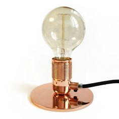 FRAMA E27 Table Lamp Copper Design Shop, Home Lighting, Lighting Design, Luxury Table Lamps, Copper Table Lamp, Applique, Bronze, Textiles, Minimalism