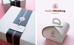 Cake Monkey Bakery - Designing a Bakery — from Scratch Bakery Branding, Bakery Packaging, Bakery Logo, Brand Packaging, Packaging Ideas, Spa Design, Logo Design, Graphic Design, Diy Gift Box Template