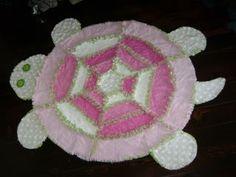 Pink/Green Turtle Rag Quilt - Craft Forum