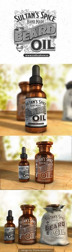 Sultan's Spice Beard Oil by Abraham Garcia #packaging #design