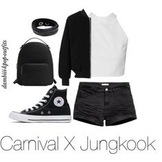 Carnival X Jungkook by dambiii on Polyvore featuring adidas, H&M, Converse, MANGO, Swarovski, bts and jungkook