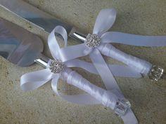 White satin crystal rhinestone  wedding cake by Exquisitefindsbycj