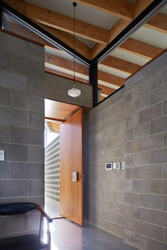 In the Concrete House by Fringe Architects, the concrete and breezeblock entry is a tribute to Iwanoff, photo by Robert Firth. Office houses design plans exterior design exterior design houses home architecture house design houses Concrete Block Walls, Concrete Bricks, Concrete Houses, Cinder Block House, Cinder Block Walls, Brick Architecture, Interior Architecture, Futuristic Architecture, Style At Home