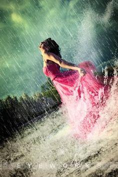 grad pose - dancing in the rain.