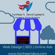 Starting a new business? lionheartdevs.com Application Development, Design Development, Business Website, Online Business, Create A Company Logo, Thank You Email, Professional Website, Custom Packaging, Getting Things Done