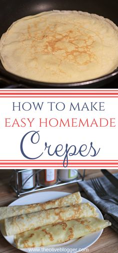 How to Make Crepes using just a few ingredients. You can enjoy these crepes for both breakfast and dinner & make them sweet or savory. Brunch Recipes, Gourmet Recipes, Cooking Recipes, Pancake Recipes, Waffle Recipes, Cooking Pasta, Cooking Wine, Cooking Light, Quick Recipes