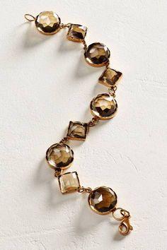 Rosecut Smoky Quartz Bracelet in 14k Rose Gold by Arik Kastan | Pinned by topista.com
