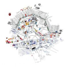 Larissa Fassler's works are inspired by everyday life in cities, and focus on perceptions, patterns and human behaviour within the built environment. She uses traditional architectural instruments such as drawings, models and maps, but adds anthropologic layers and personal impressions to them. The results are fascinating cityscapes that combine the hardware and software of a city: a mapped aggregation of the actions and perceptions of the users within the architecture they inhabit.