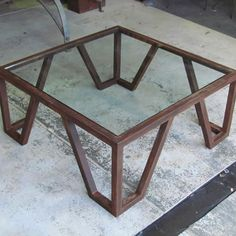 E Rusted Forged Steel Coffee Table