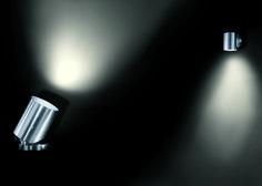 cone . outside luminaire . Außenleuchte . ground-, wall- and ceiling spotlight . Boden- Wand- und Deckenstrahler . stainless steel brushed . Edelstahl gebürstet